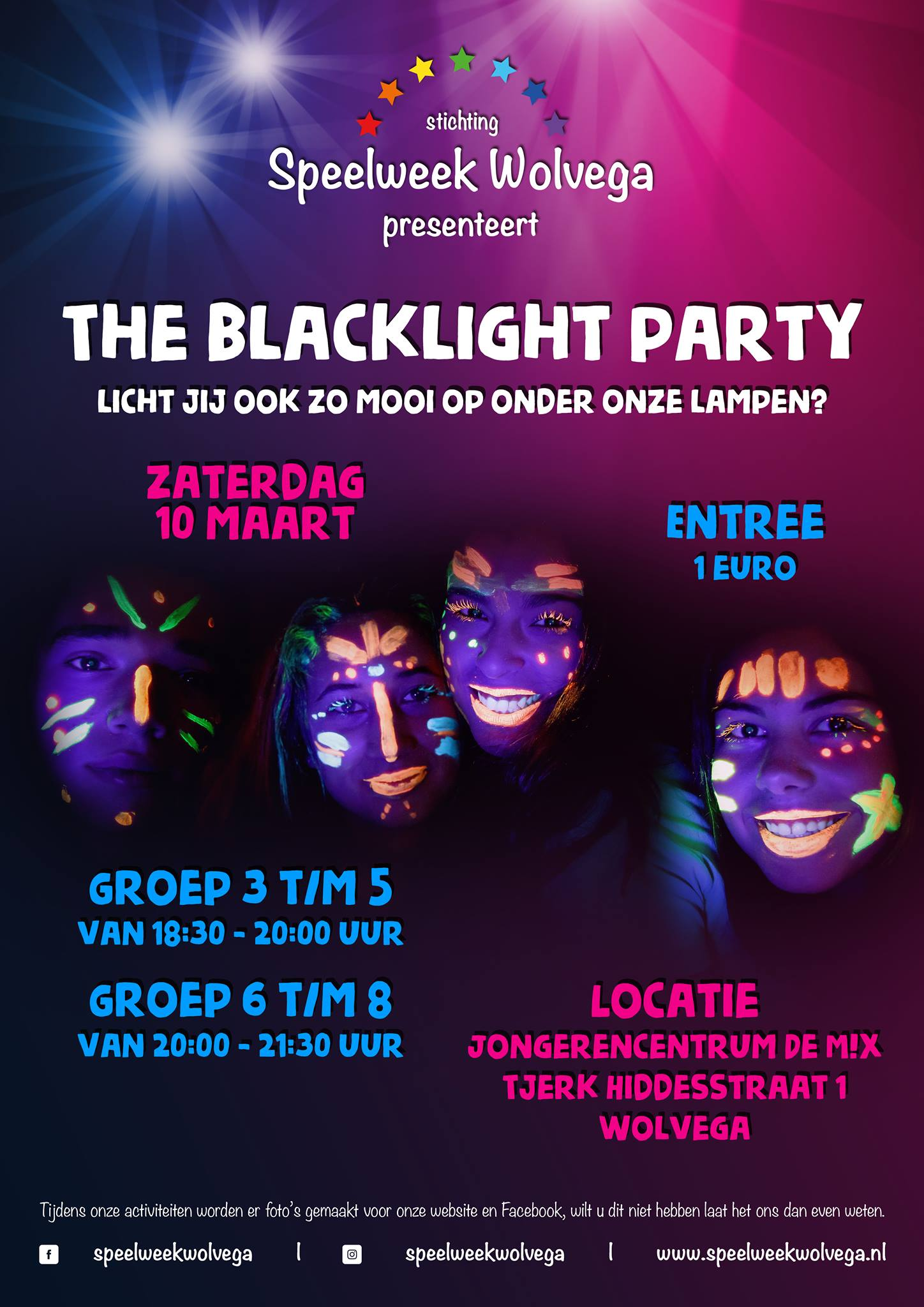 The Blacklight Party | Speelweek Wolvega