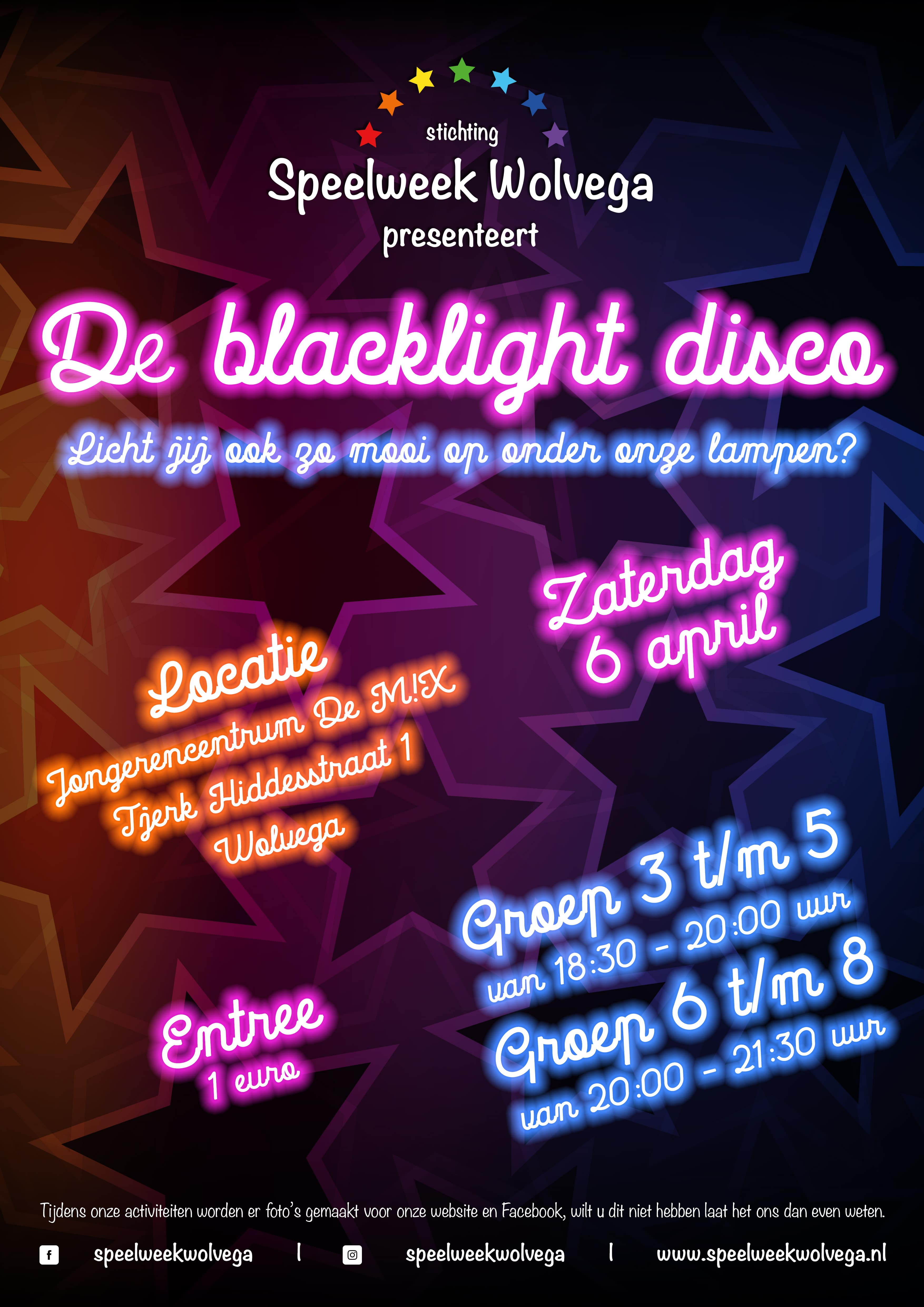 De Blacklight Disco | Speelweek Wolvega